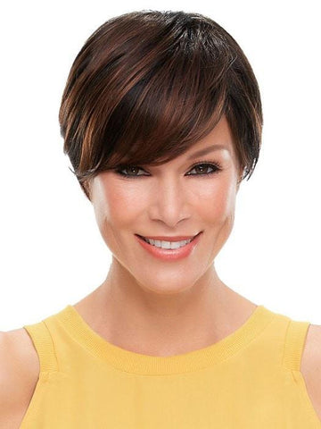 The side bang can be trimmed or thinned | Color: 1BRH30