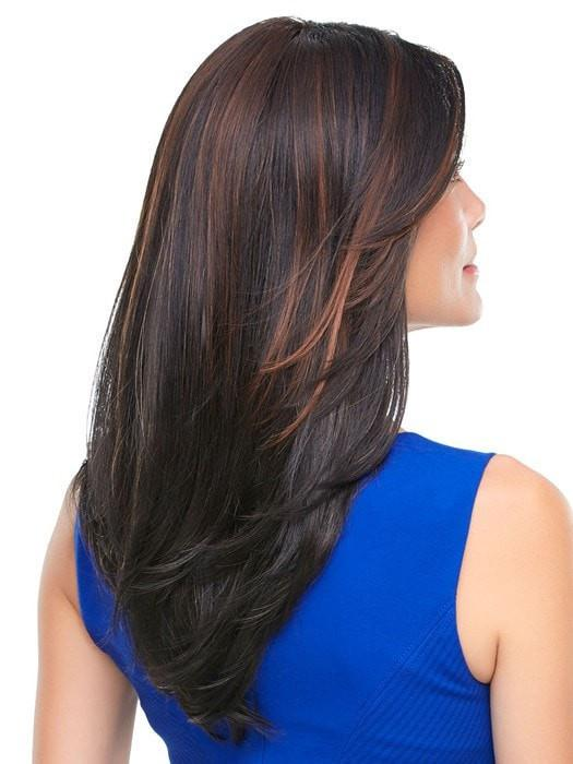 The monofilament top is hand-tied and creates multi-directional parting while still providing the appearance of natural hair growth