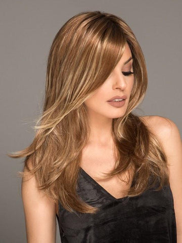 ALESSANDRA by Jon Renau in FS26/613S6 SALTED CARMEL | Medium Natural Red Brown with Red Gold Blonde Bold Highlights, Shaded with Brown