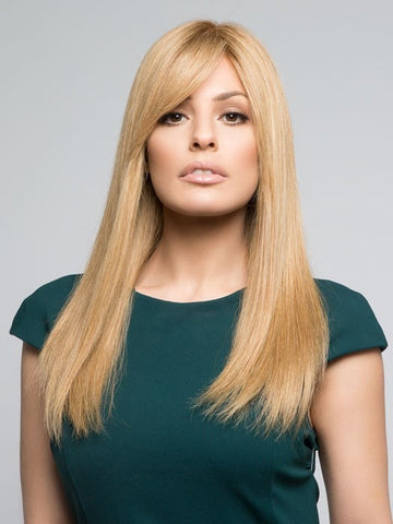 LEA RENAU EXCLUSIVE by Jon Renau in 14/26S10 SHADED PRALINES N CREAM | Light Gold Blonde and Medium Red-Gold Blonde Blend, Shaded with Light Brown