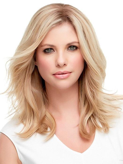 Chic & Sassy | Color 12FS8 Light Golden Brown, Light Natural Golden Blonde & Pale Natural Golden Blonde Blend w/ Dark Brown Roots