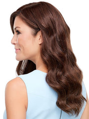 Blends beautifully with your own hair | Color 6RN Red-Golden Brown Renau Natural