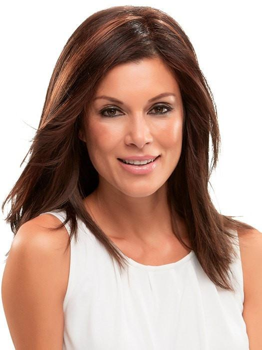 Clip in topper that integrates easily with your own hair at the crown to add body and volume