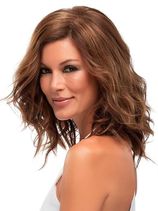 Double Monofilament Top- allows multi-directional parting while providing the appearance of natural hair growth | Color: 6F27
