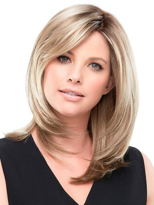 Double Monofilament Top- allows multi-directional parting while providing the appearance of natural hair growth | Color: 12FS8