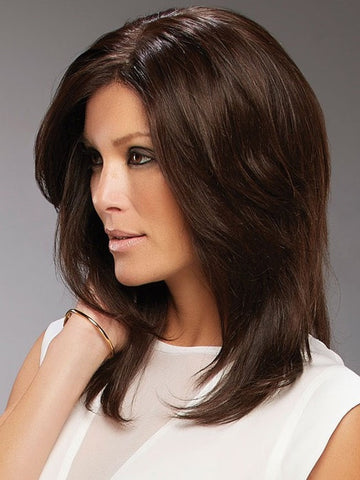 Smooth with a flat iron or round brush | Color: 4RN