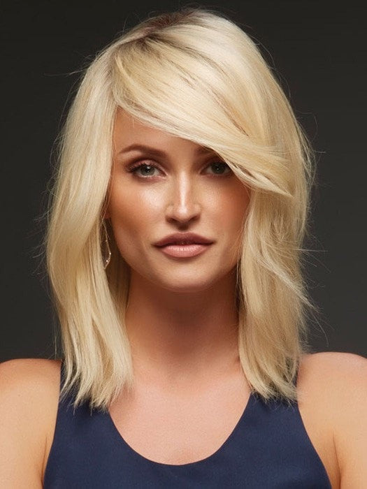 CARRIE EXCLUSIVE by Jon Renau in 613/102S8 | Pale Natural Gold Blonde and Pale Platinum Blonde Blend, Shaded with Medium Brown