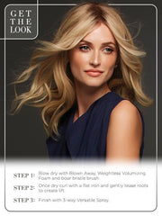 Get the look! 12FS8 SHADED PRAILINE | Light Gold Blonde and Pale Natural Blonde Blend, Shaded with Dark Brown