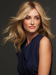 SIENNA EXCLUSIVE COLORS by Jon Renau in 12FS8 SHADED PRALINE |  Medium Natural Gold Blonde, Light Gold Blonde, Pale Natural Blonde Blend, Shaded with Dark Brown
