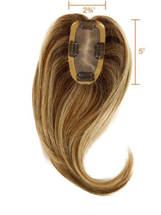 "EASIPART HUMAN HAIR 12"" TOPPER Base Construction 