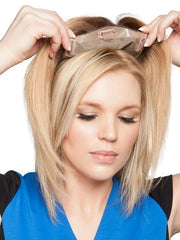 Pressure sensitive clips are easy to use and keep the hairpiece secure | Color: 12FS8