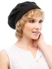 Knit Beret by Jon Renau | Color Black