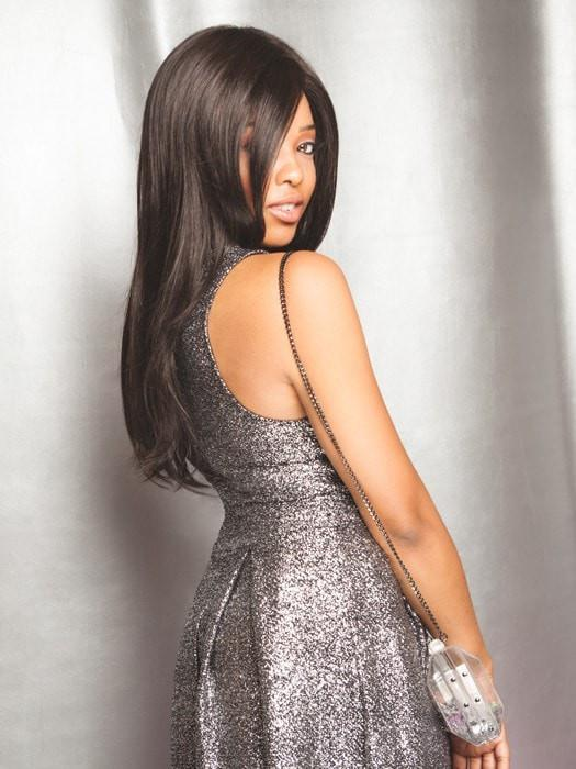 Incredible volume and length, this long sleek wig has it all!