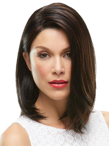 KARLIE by Jon Renau in 1BRH30 CHOCOLATE PRETZEL | Soft Black with 33% Gold-Red Highlights