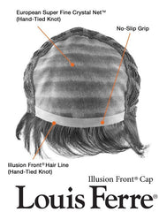 Monofilament Top for extra styling versatility