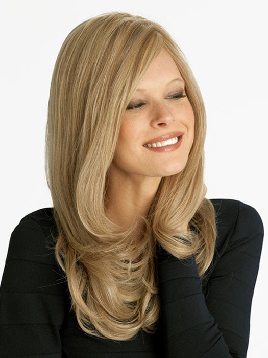 Louis Ferre NRC 001HM is a long Human Hair Wig | Color SPRING-HONEY