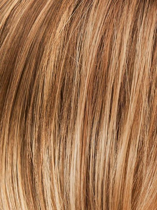 LIGHT BERNSTEIN ROOTED 12.26.27 | Light Auburn, Light Honey Blonde, and Light Reddish Brown blend and Dark Roots