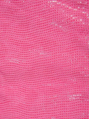 Color Pink Bubble Gum | Pink Faux Lizard Print