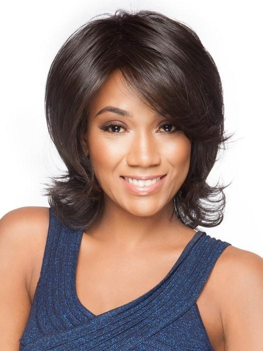 EMBRACE by Raquel Welch in RL2/4 OFF BLACK | Black Evenly Blended with Dark Brown Highlights