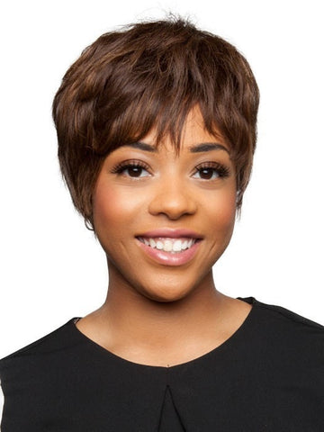 H-Bom by Motown Tress | African American Human Hair Wig (shown in 4F27)