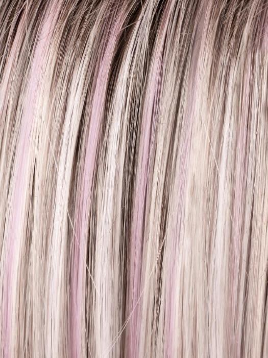 PASTEL ROSE ROOTED | Pink and Pearl Blonde Blend with Light Brown Roots