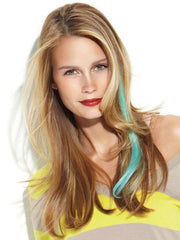 "Color N/A | 16"" Human Hair Clip In Color Strips by hairdo"