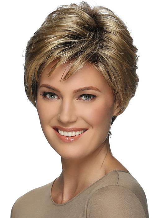 BILLIE by ESTETICA in RMH12/26RT4 | Light Brown with Golden Blonde highlights with Dark Brown Root