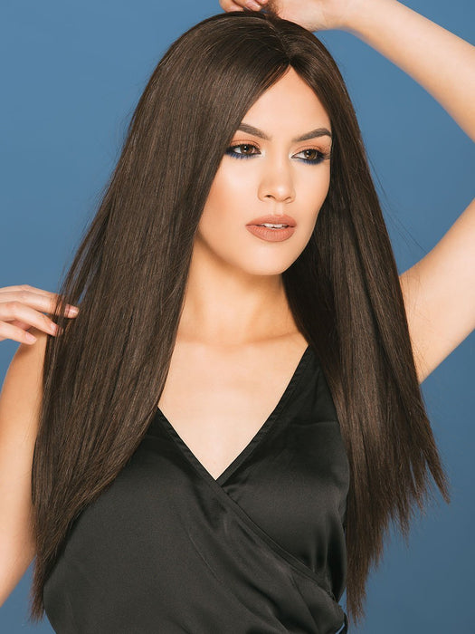 CHRISTINA PETITE by WIGPRO in 1B | Off Black (This piece has been styled and straightened)
