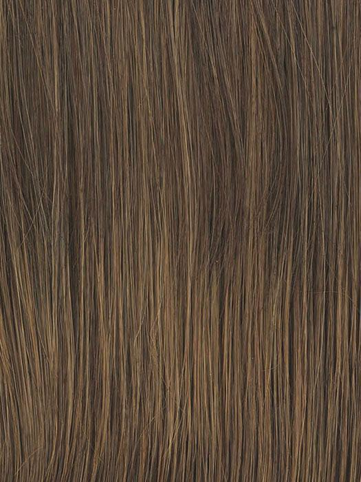 RL6/8 DARK CHOCOLATE | Medium Brown Evenly Blended with Warm Medium Brown