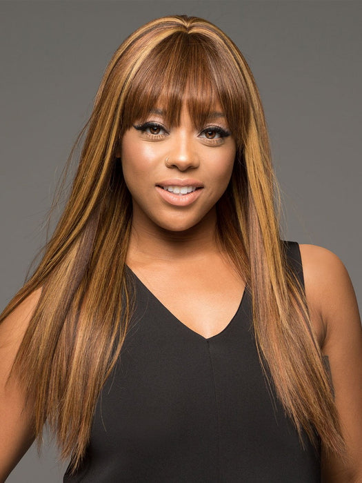 H-157 by VIVICA FOX in P4/27/30 | Piano Color. Medium Dark Brown, Honey Blonde, and Copper Blonde