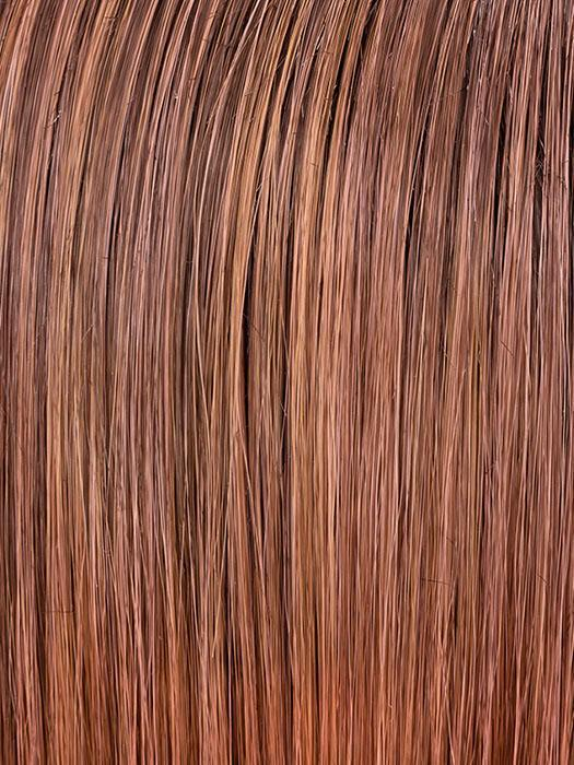 ROSEWOOD ROOTED | Medium Dark Brown Roots that Melt into a Mixture of Saddle Brown and Terra-Cotta Tones
