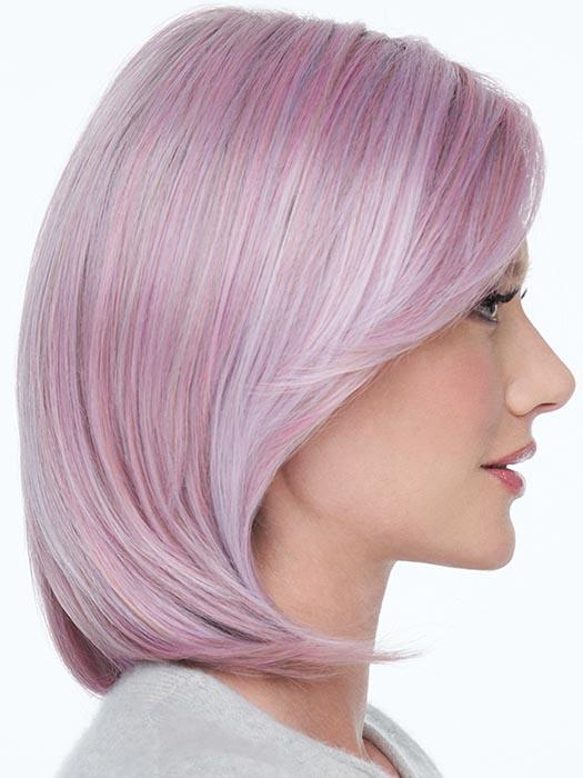 A feminine softly layered bob that includes tapered lengths throughout that gently fall to just below the chin