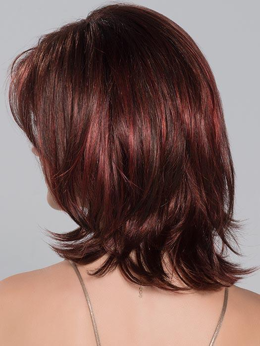 CASINO MORE by ELLEN WILLE in FLAME ROOTED | Dark Burgundy Red, Bright Cherry Red, and Dark Auburn blend