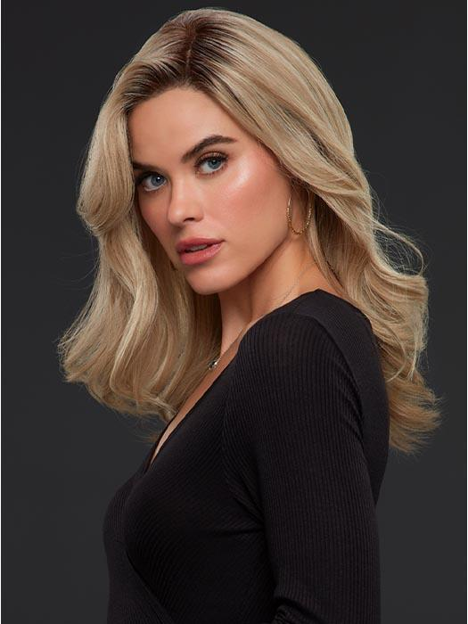 SIENNA by JON RENAU in 22F16S8 VENICE BLONDE | Lt Ash Blonde & Lt Natural Blonde Blend, Shaded w/ Med Brown