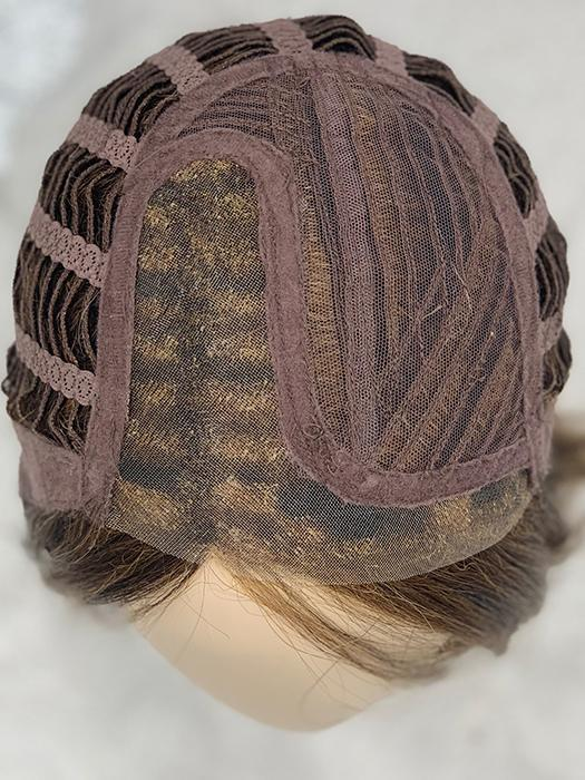 CAP CONSTRUCTION | Lace Front | Monofilament Part | HAZELNUT MIX | Medium Brown base with  Medium Reddish Brown and Copper Red highlights
