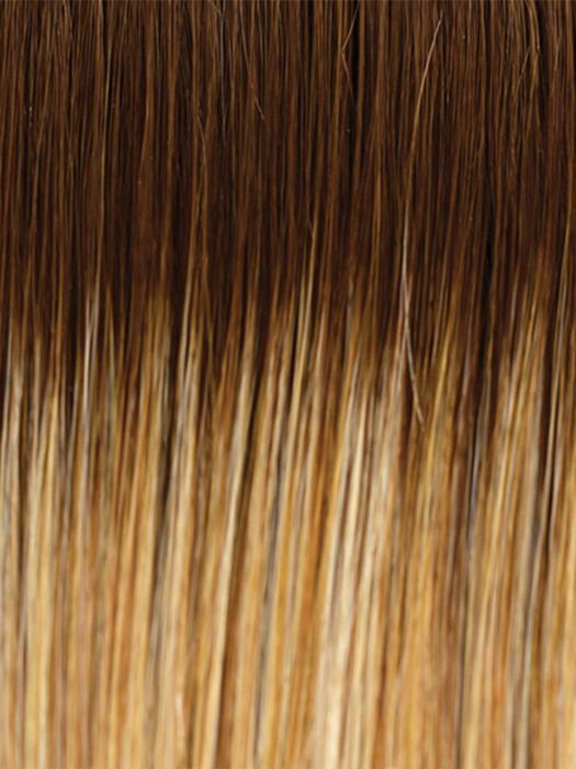 14/26/R10 | Red Blonde with Gold Blonde highlights and Light Brown roots