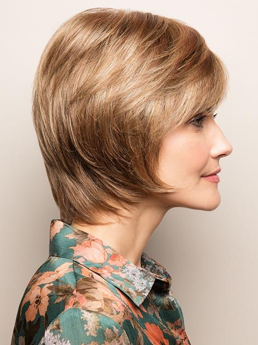Sophisticated short style with face-framing layers and razor-edged nape