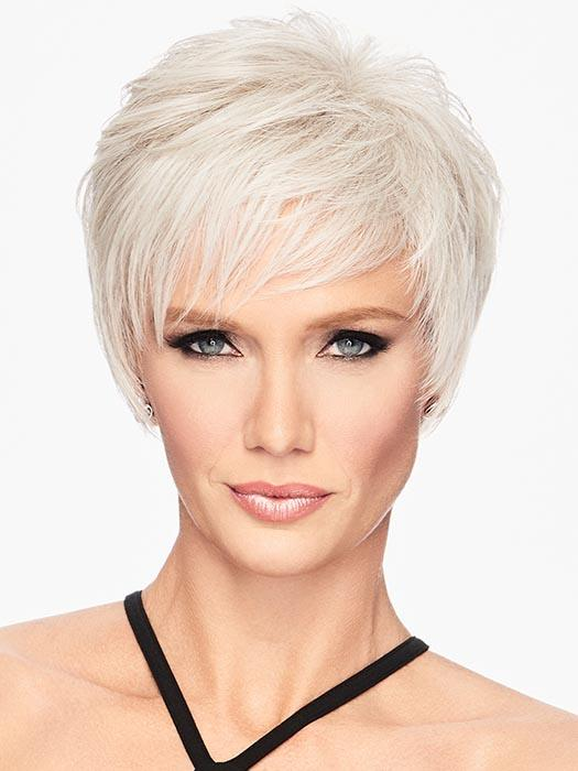 SHORT SHAG by HAIRDO in R56/60 SILVER MIST | Lightest Gray Evenly Blended with Pure White