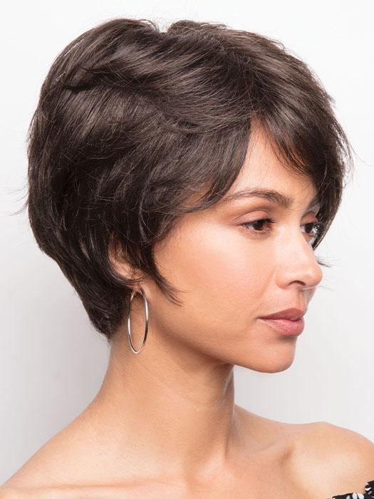 A soft, wavy short style that can contour many face shapes