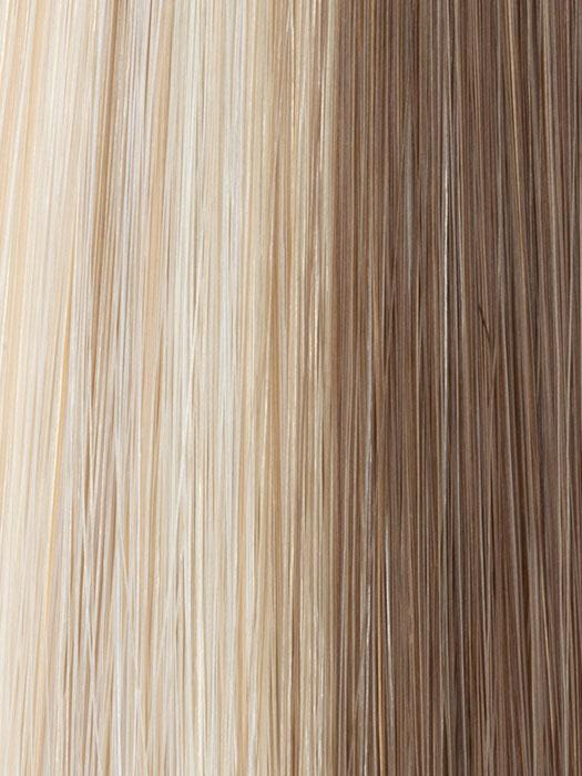 1621 GLAZED SAND | Pale Blonde, Golden Blonde, and Light Brown evenly blended with a frosted front and top