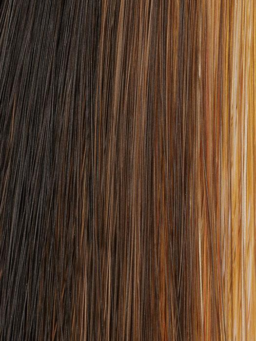829 GLAZED HAZELNUT | Dark Brown, Medium Brown, and Copper Red with Brown Highlights and Copper Red Streaks