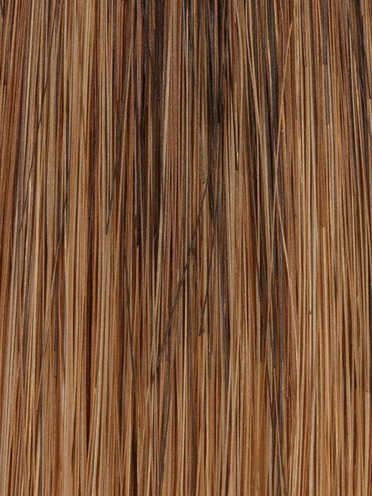 27/33 CHESTNUT | Medium Brown and Mahogany Brown blended and tipped with Red in the front and on top