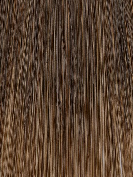 12/8 COFFEE BLEND | Two-toned Medium Brown to Dark Brown blended throughout with lighter Brunette tips