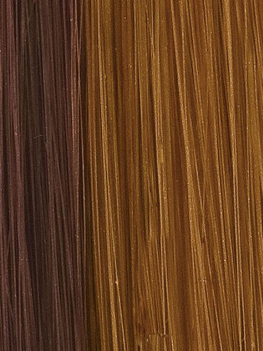 6/27 GLAZED CARAMEL | Two-tone Medium Brown streaked with Red