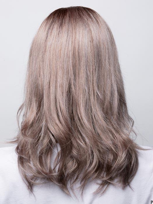MILK-TEA-LR | Creamy beige with longer dark roots