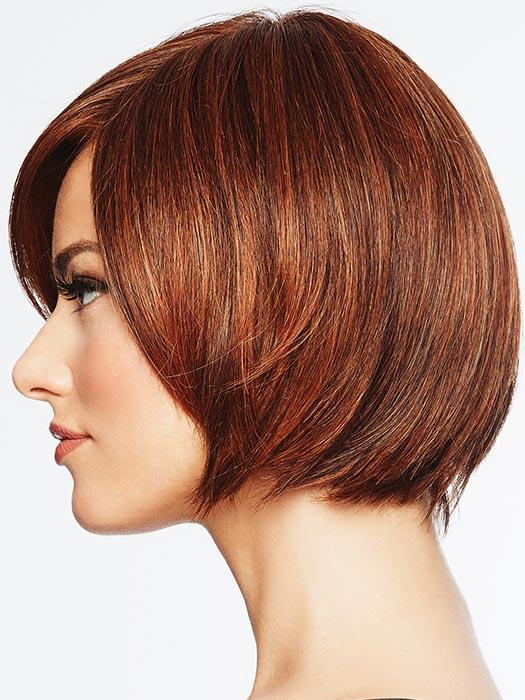 A no-fuss, contemporary, tapered bob that is perfect for a fun change of look or a fast and easy answer to a bad hair day