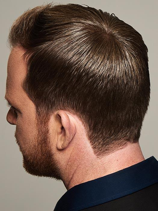 "his versatile piece is a Hollywood ""trick of the trade"" and can be worn as it is with longer hair lengths or trimmed down to blend seamlessly into shorter styles as well"