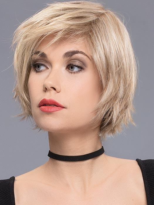 A playful, edgy, razor-cut, modern bob. Made with specially selected synthetic materials
