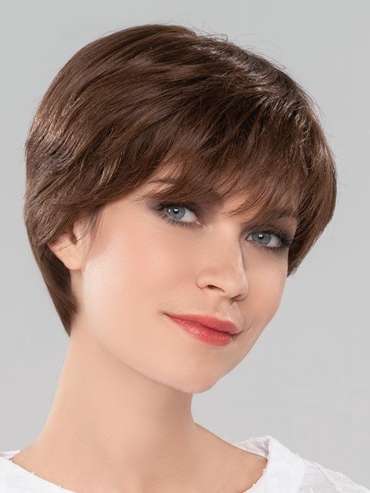 MONDO by ELLEN WILLE in CHOCOLATE MIX | Medium to Dark Brown base with Light Reddish Brown highlights