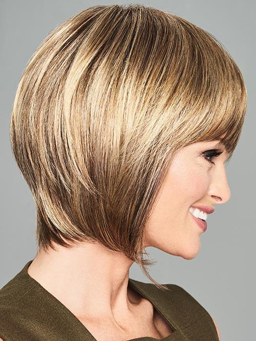 Sides are punctuated by a tapered fringe that is guaranteed to bring attention to the eyes